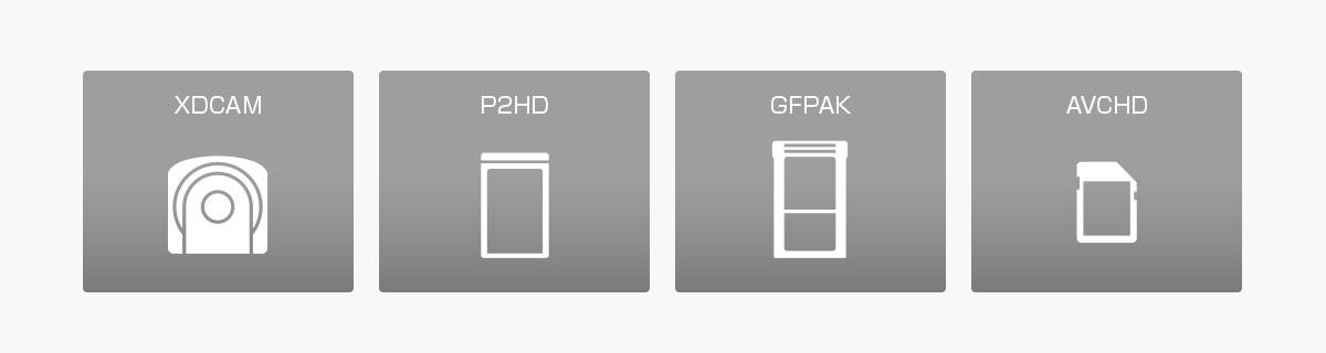 対応する様々なテープレスメディア